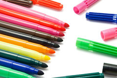 Markers. Royalty Free Stock Photo