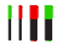 Markers. Set of markers, different design Royalty Free Stock Photography