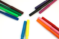 Markers. On white background royalty free stock images