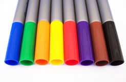 Markers. Photo of markers on white Stock Image