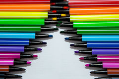Markers as zipper Royalty Free Stock Photography