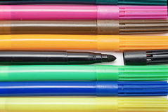 Markers background. Royalty Free Stock Photos