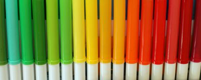 Markers Banner Royalty Free Stock Photography