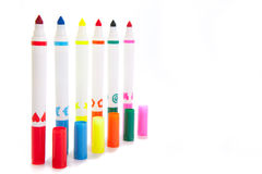 Markers with a caps Royalty Free Stock Image
