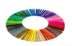 Markers stock image