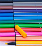Markers colors Stock Photos