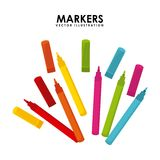 Markers design Stock Images