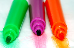 Markers in different colors Stock Photography