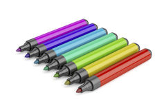 Markers with different colors Royalty Free Stock Photography