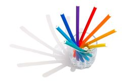 Markers in a glass Royalty Free Stock Photos