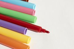Markers in a group, colors for writing and drawing Stock Photo