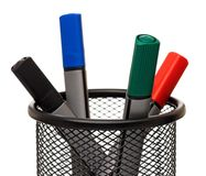 Markers in holder Royalty Free Stock Images