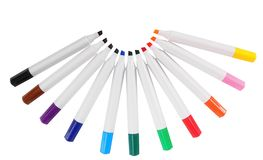 Markers. Isolated Stock Photography