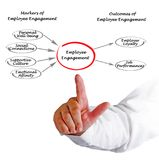 Employee Engagement. Markers and Outcomes of Employee Engagement Stock Images