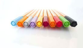 Markers pens Stock Photos