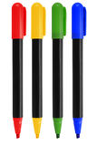 Markers. Set of markers of various colors isolated on white background Stock Photo
