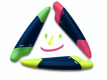 Markers smile Royalty Free Stock Photography