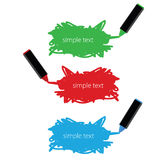 Markers text box vector illustration Stock Images