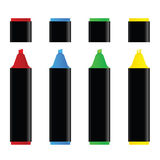 Markers vector illustration Royalty Free Stock Image