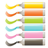 Markers vector set Royalty Free Stock Photo