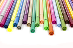 Markers on white background Royalty Free Stock Photo