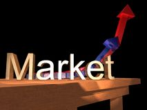 Market 1. Market sign Stock Photography