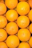 Market. Oranges background in a market Stock Image