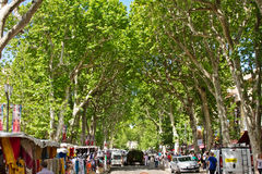 Market in Aix Royalty Free Stock Photo
