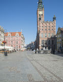 The market along with the fountain of neptune gdansk poland europe Royalty Free Stock Photography