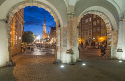 The market along with the town hall from the green door gdansk poland europe Royalty Free Stock Image