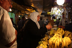 Market in Amman, Jordan. A night market in Amman, the capital of Jordan royalty free stock photography