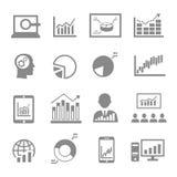 Market analysis, diagrams icons Royalty Free Stock Photos