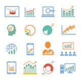 Market analysis, diagrams icons Royalty Free Stock Image