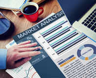 Market Analysis Strategy Office Working Concept Stock Images