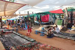 The market in Arpora, India, North Goa Royalty Free Stock Images