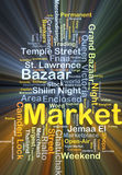 Market background concept glowing Stock Photos