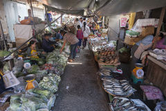 Market in Bangkok on the local railway station Stock Images