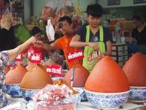 Market , Bangkok. Spicy shop in a Bangkok market Stock Photography