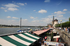Market on the bank Rhine Royalty Free Stock Photos