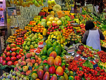 Free Market Barcelona La Boqueria Food Fruit Spain Vegetables Stall Marketplace Fresh Spanish Grocery Store Fruits Stand Shop Healthy Stock Photos - 9717263