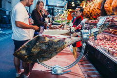 Market in Barcelona Stock Photography