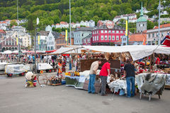 Market in Bergen Royalty Free Stock Photography