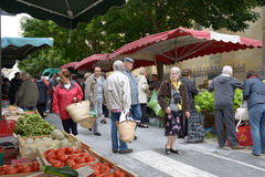 Market in Bergerac, France Stock Photos