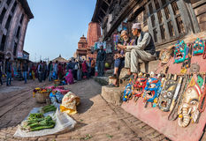 Market in Bhaktapur Stock Photos