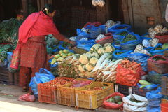 Market in Bhaktapur Royalty Free Stock Image