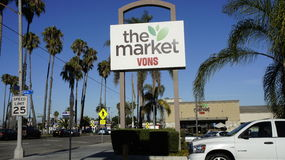 The Market. Big Supermarkets like Vons are all around serving all consumers of the country Stock Photography