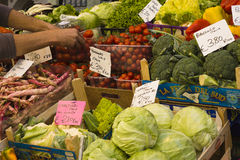 Market in Bolzano, Italy royalty free stock images