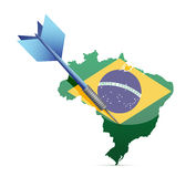 Market in brazil concept illustration Royalty Free Stock Photo