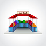 Market building  vector illustration Royalty Free Stock Photography