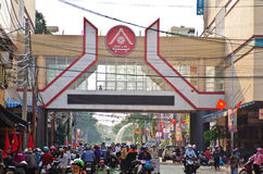 Market  Buon Me Thuot. Market of the city center Buon Ma Thuot, Vietnam Stock Photos